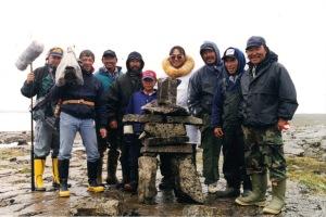 Our Sanikiluaq crew built a special inukshuk