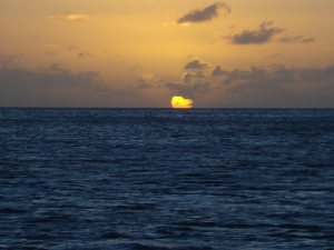 Sunset off Nevis - a perfect 10