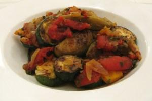 An aromatic veggie casserole
