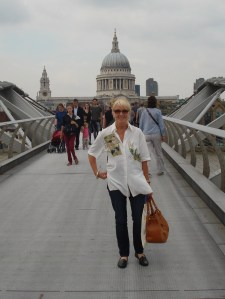 Crossing the Millennium Bridge on a windy day