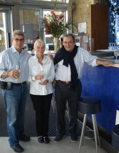 Nigel and Diane with Vinopolis founder Duncan Vaughn-Arbuckle