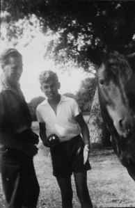 Dad, young Nigel and pony in Beaulieu