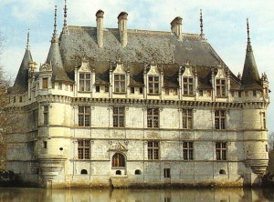 Chateau at Azay seems to float on the river