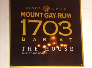 1703 bar celebrates the founding of Mount Gay