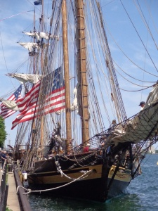 Pride of Baltimore II and Niagara docked at Harbour Square Park East