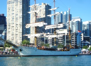 Europa docked at Harbourfront in 2010