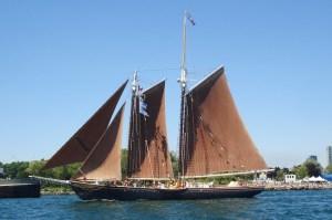 Roseway under full sail