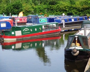 Marina full of narrow boats