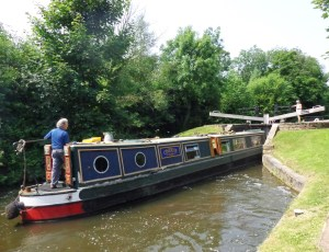Barging into the lock