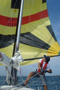 Flying the spinnaker