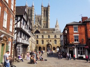 Lincoln Cathedral towers over the old town