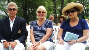 Nigel, Diane and Gina at St. Andrew-by-the-Lake for the Blessing of the Fleet