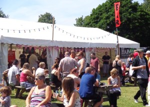 Busy beer tent