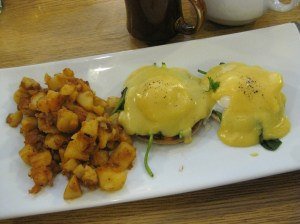 Rozie's serves a perfect eggs benny