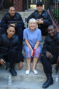 Diane entertains the movie SWAT team